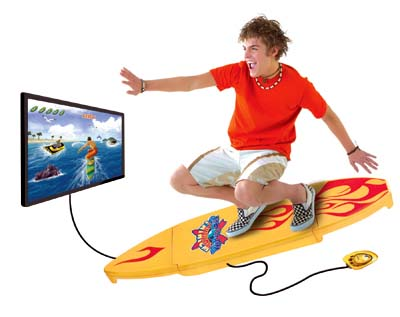 surfing video game
