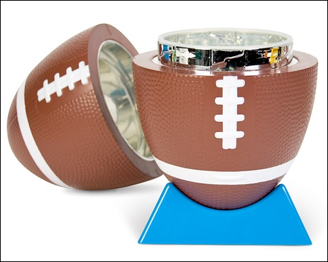 football cocktail shaker