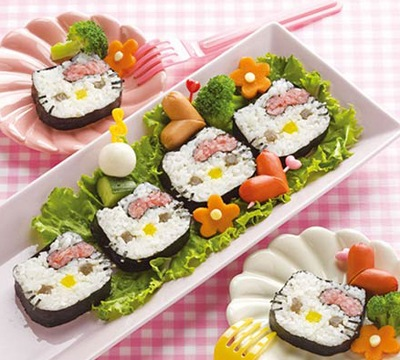 Hello Kitty Sushi Kit. Why is everything from Japan so cute?