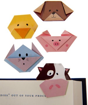 Origami Cats Dogs Faces