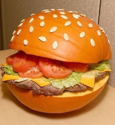 Pumpkin burger