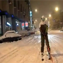 Post thumbnail of Skiing in the City
