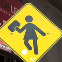 Post thumbnail of New Street Sign: Stop for the Girl with the iPad
