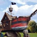 Post thumbnail of Crazy Butt Kids Toy: Pirate House Ship