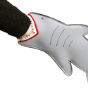 Post thumbnail of Shark Bite Oven Mittens