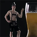 Post thumbnail of Happy Gay Time: Hand-Blown Beer Boot Glass