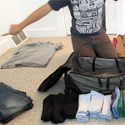 Post thumbnail of How to pack a tight suitcase