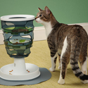 Post thumbnail of Designer Cat Toy: Plastic Cat Food Tree