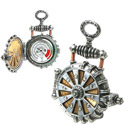 Post thumbnail of Solar Powered Turbine Steampunk Fob Watch