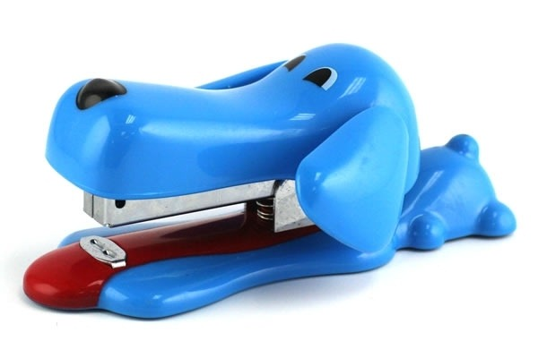 Blue Puppy Stapler