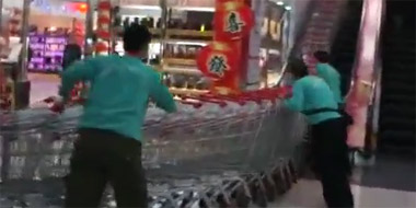 Post image of The Never-ending Shopping Cart Train