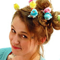 Post thumbnail of Crazy Easter Chicks Hair Clips–Not just for the hair!
