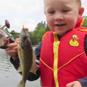 Post Thumbnail of Boy Catches His First Fish Ever