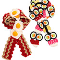 Post thumbnail of Sushi and Egg Scarf