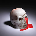 Post Thumbnail of Bloody Skull Candle &amp;ndash; Halloween 2012 Is Going To Be Awesonme