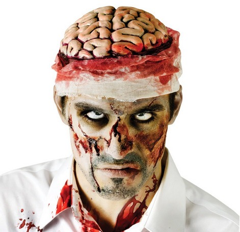 Open-Brain-Zombie-Costume