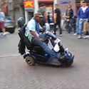Post Thumbnail of Only in Amsterdam: Tricycle Stunt In The Red Light District
