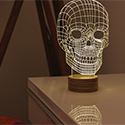 Post Thumbnail of Bulbing Skull Lamp